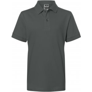 Dětské triko s límečkem premium JAMES NICHOLSON JN070K GRAPHITE