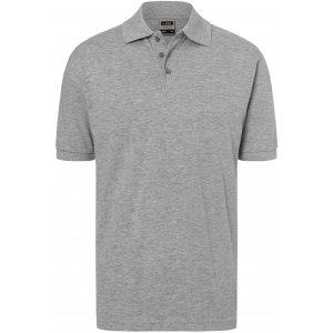 Pánské triko s límečkem premium JAMES NICHOLSON JN070 GREY HEATHER