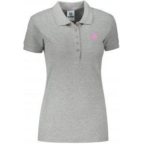 Dámské triko s límečkem ALTISPORT ALW065210 TMAVĚ ŠEDÝ MELÍR