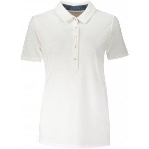 Dámské triko s límečkem fashion JAMES NICHOLSON JN711 WHITE/NAVY WHITE