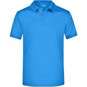 Pánské triko s límečkem funkční premium JAMES NICHOLSON JN576 COBALT