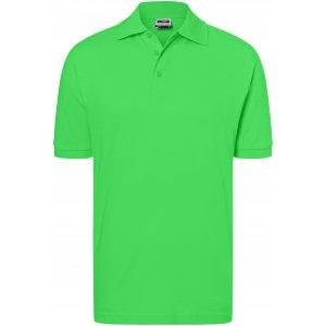 Pánské triko s límečkem premium JAMES NICHOLSON JN070 LIME GREEN