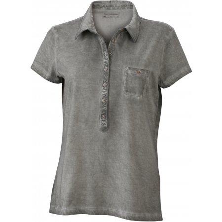 Dámské triko s límečkem fashion JAMES NICHOLSON JN987 GREY
