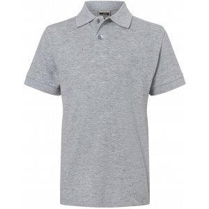Dětské triko s límečkem premium JAMES NICHOLSON JN070K GREY HEATHER