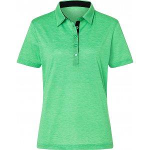Dámské triko funkční s límečkem JAMES NICHOLSON JN753 FERN GREEN/WHITE