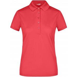 Dámské triko s límečkem funkční premium JAMES NICHOLSON JN574 PINK