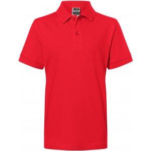 Dětské triko s límečkem premium JAMES NICHOLSON JN070K SIGNAL RED