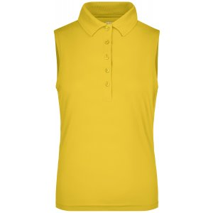 Dámské triko s límečkem bez rukávů funkční premium JAMES NICHOLSON JN575 SUN YELLOW