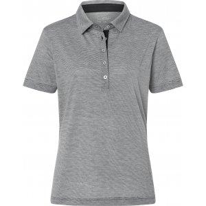Dámské triko funkční s límečkem JAMES NICHOLSON JN753 CARBON/WHITE