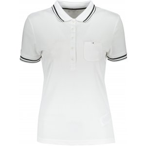 Dámské triko s límečkem funkční komfort JAMES NICHOLSON JN701 WHITE/BLACK