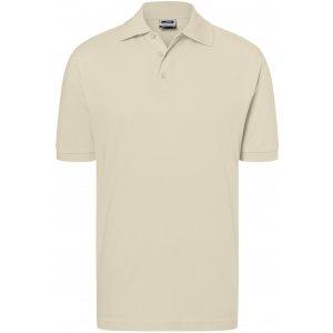 Pánské triko s límečkem premium JAMES NICHOLSON JN070 STONE