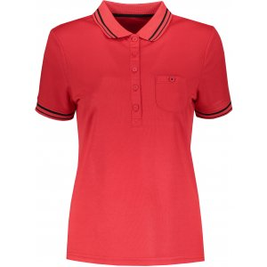 Dámské triko s límečkem funkční komfort JAMES NICHOLSON JN701 RED/BLACK