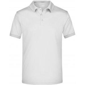 Pánské triko s límečkem funkční premium JAMES NICHOLSON JN576 WHITE
