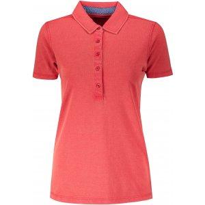 Dámské triko s límečkem fashion JAMES NICHOLSON JN711 RED/BLUE WHITE