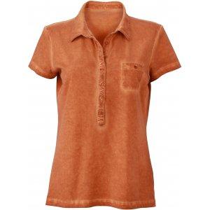 Dámské triko s límečkem fashion JAMES NICHOLSON JN987 TERRA