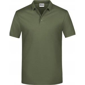 Pánské triko s límečkem classic JAMES NICHOLSON JN792 OLIVE