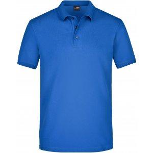 Pánské triko s límečkem elastic JAMES NICHOLSON JN710 ROYAL