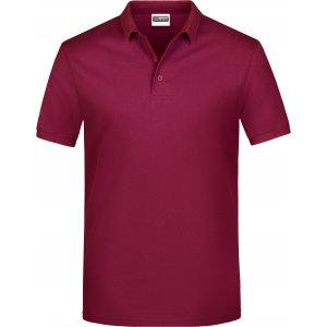 Pánské triko s límečkem classic JAMES NICHOLSON JN792 WINE