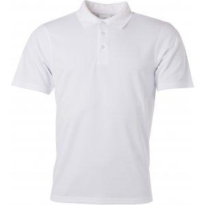 Pánské triko s límečkem funkční classic JAMES NICHOLSON JN720 WHITE