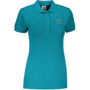 Dámské triko s límečkem ALTISPORT ALW056210 TMAVÝ TYRKYS