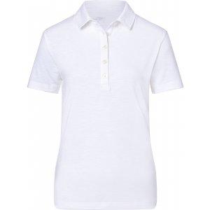 Dámské triko s límečkem žíhané JAMES NICHOLSON JN751 WHITE