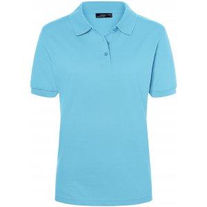 Dámské triko s límečkem premium JAMES NICHOLSON JN071 SKY BLUE