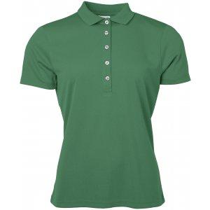 Dámské triko s límečkem funkční classic JAMES NICHOLSON JN719 GREEN