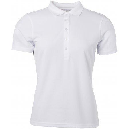 Dámské triko s límečkem funkční classic JAMES NICHOLSON JN719 WHITE
