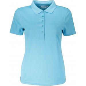 Dámské triko s límečkem funkční classic JAMES NICHOLSON JN719 PACIFIC