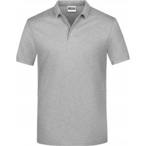 Pánské triko s límečkem classic JAMES NICHOLSON JN792 GREY HEATHER