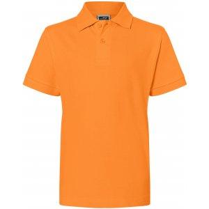 Dětské triko s límečkem premium JAMES NICHOLSON JN070K ORANGE