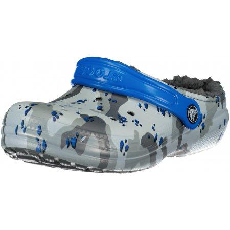 Dětské pantofle CROCS CLASSIC LINED CAMO CGK 207323-0EF LIGHT GREY/CAMO