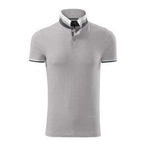 Pánské triko s límečkem MALFINI PREMIUM COLLAR UP 256 SILVER GRAY
