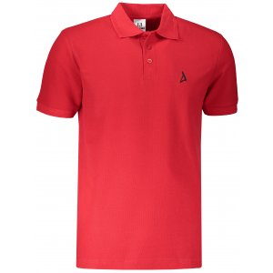 Pánské premium triko s límečkem ALTISPORT ALM002203 ČERVENÁ