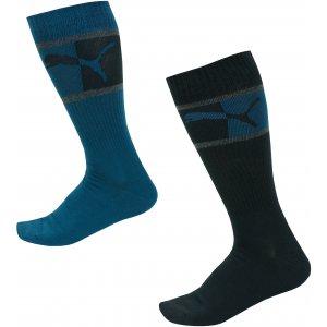 Pánské ponožky PUMA MEN BLOCKED LOGO SOCK 2P 935264-03 ČERNÁ/MODRÁ