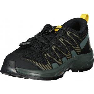 Dětské boty SALOMON XA PRO V8 J L41436100 ČERNÁ/ŠEDÁ/ŽLUTÁ