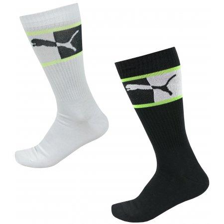 Pánské ponožky PUMA MEN BLOCKED LOGO SOCK 2P 935264-01 ČERNÁ/BÍLÁ
