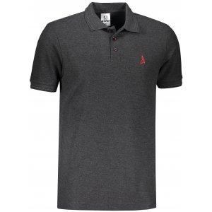 Pánské premium triko s límečkem ALTISPORT ALM002203 ANTRACITOVÝ MELÍR