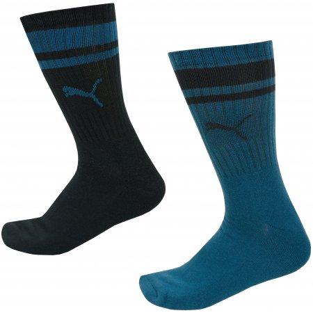 Ponožky PUMA CREW HERITAGE STRIPE 2P 907944-05 ČERNÁ