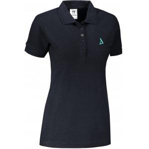 Dámské premium triko s límečkem ALTISPORT ALW002210 NÁMOŘNÍ MODRÁ