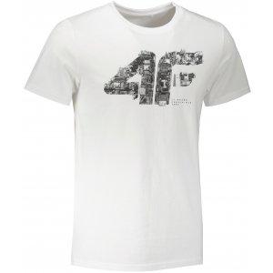 Pánské triko 4F H4Z21-TSM012 WHITE