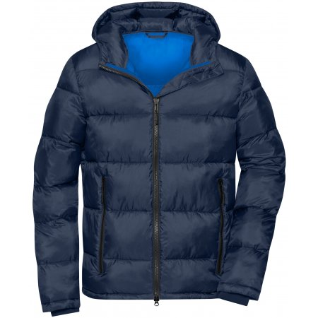 Pánská premium bunda JAMES NICHOLSON JN1168 NAVY/ELECTRIC BLUE