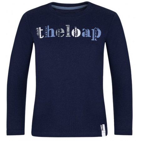Chlapecké triko LOAP BICER TMAVĚ MODRÁ