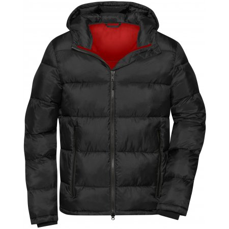 Pánská premium bunda JAMES NICHOLSON JN1168 BLACK/RED