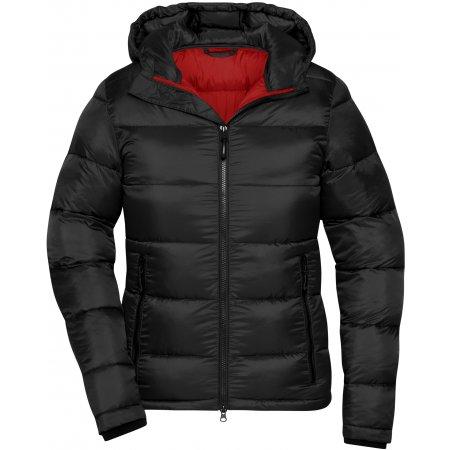 Dámská premium bunda JAMES NICHOLSON JN1167 BLACK/RED