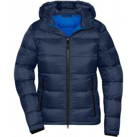 Dámská premium bunda JAMES NICHOLSON JN1167 NAVY/ELECTRIC BLUE