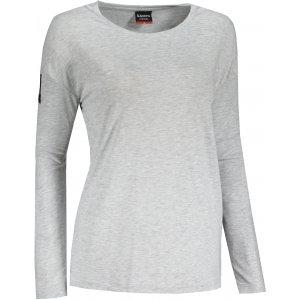Dámské triko s dlouhým rukávem  SAM 73  VIRGINIA WT 832 SVĚTLE ŠEDÁ