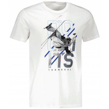 Pánské triko 4F H4Z21-TSM018 WHITE