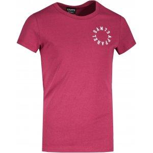 Dívčí triko s krátkým rukávem SAM 73  LEONI GT 553 TMAVĚ RŮŽOVÁ
