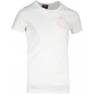Dívčí triko s krátkým rukávem SAM 73  LEONI GT 553 BÍLÁ